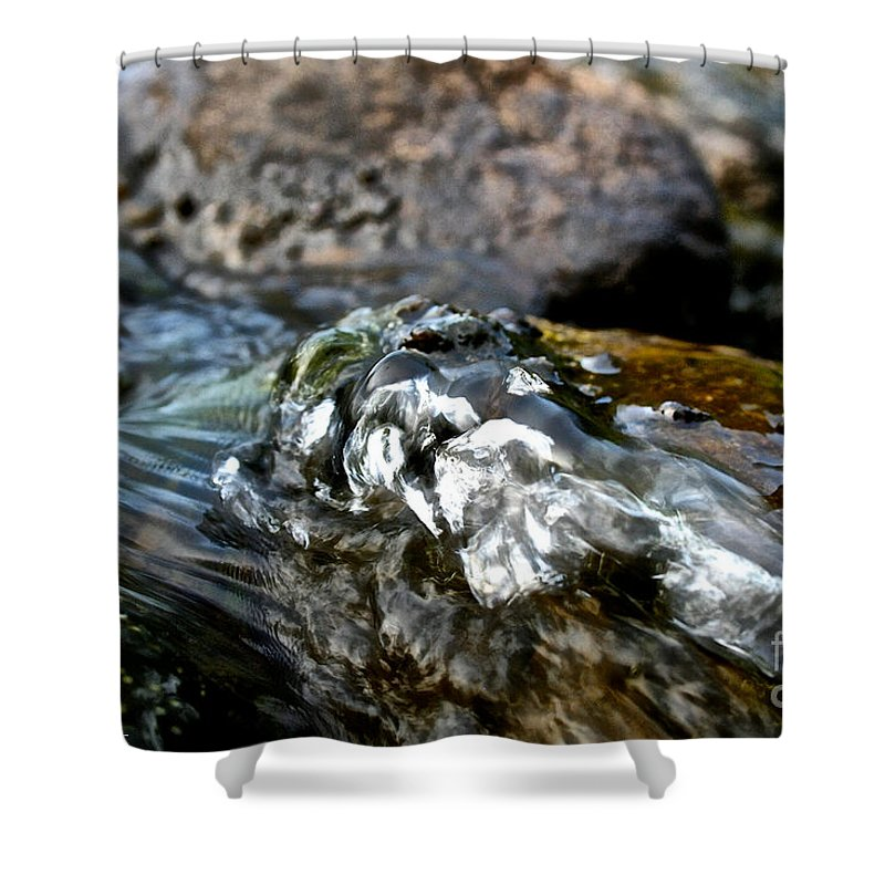 Outdoors Shower Curtain featuring the photograph River Rock by Susan Herber
