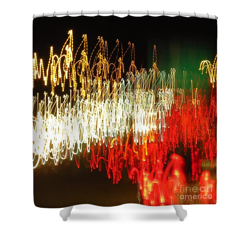 Headlights Shower Curtain featuring the photograph Road Shine by Rrrose Pix