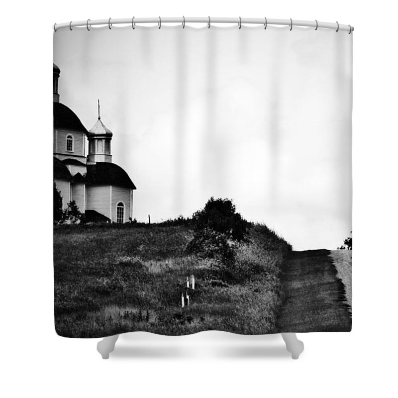 Rural Decay Shower Curtain featuring the photograph Road To Answers by The Artist Project