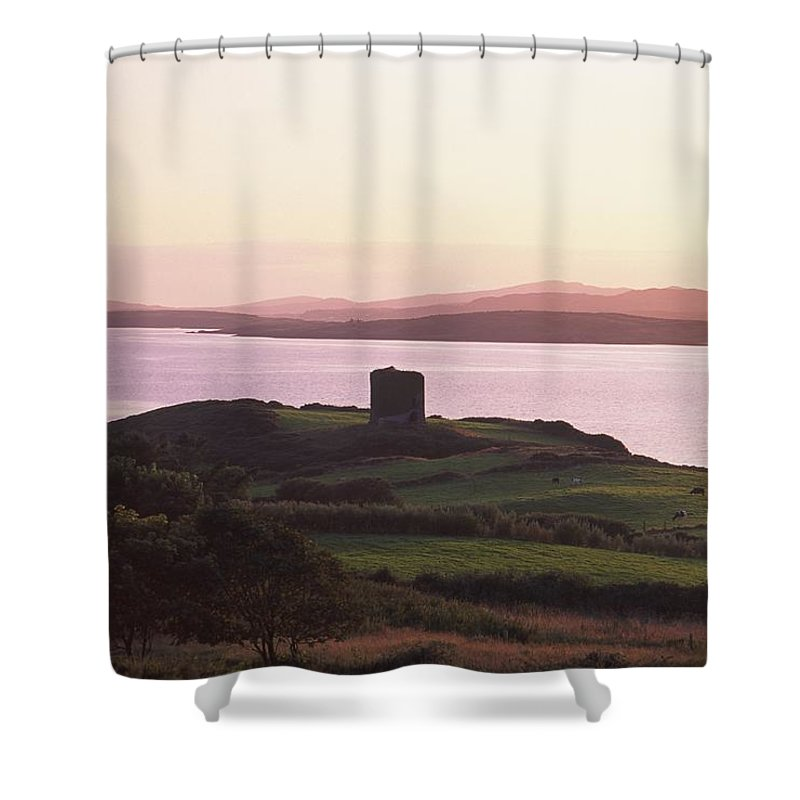 Back Lit Shower Curtain featuring the photograph Roaringwater Bay, Co Cork, Ireland by The Irish Image Collection