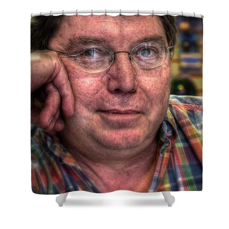 Acrylic Prints Shower Curtain featuring the photograph Rob At Work by John Herzog