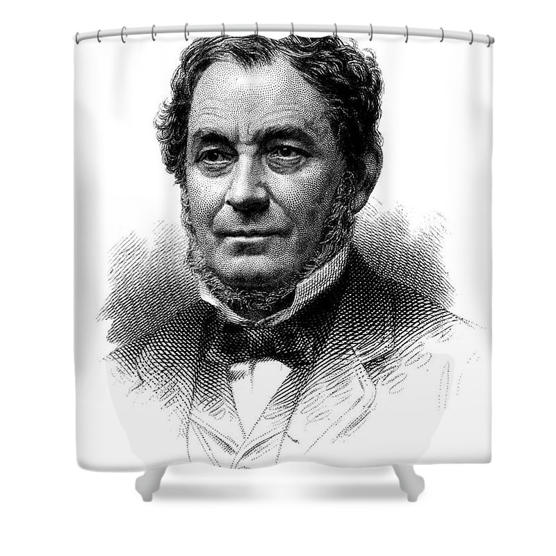 Science Shower Curtain featuring the photograph Robert Bunsen, German Chemist by Science Source