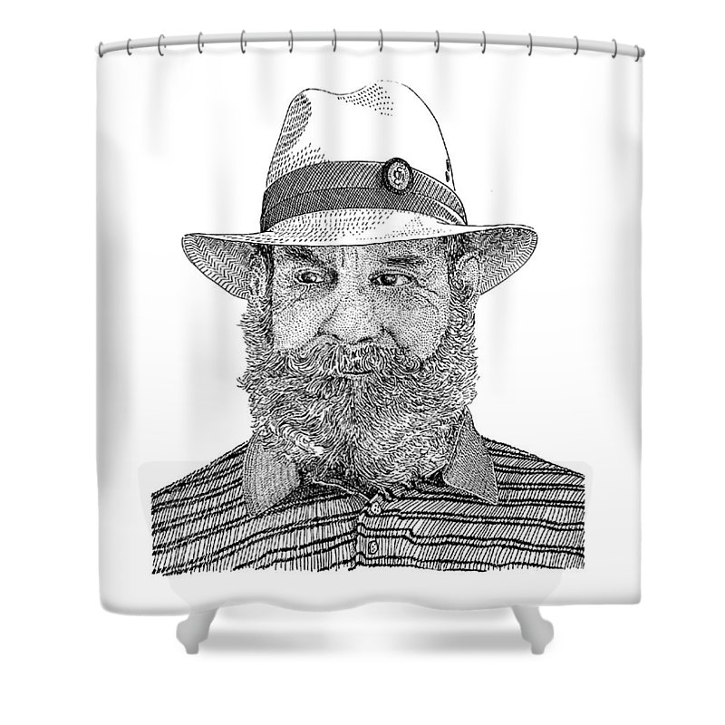 Ranch Hands Drawings Shower Curtains