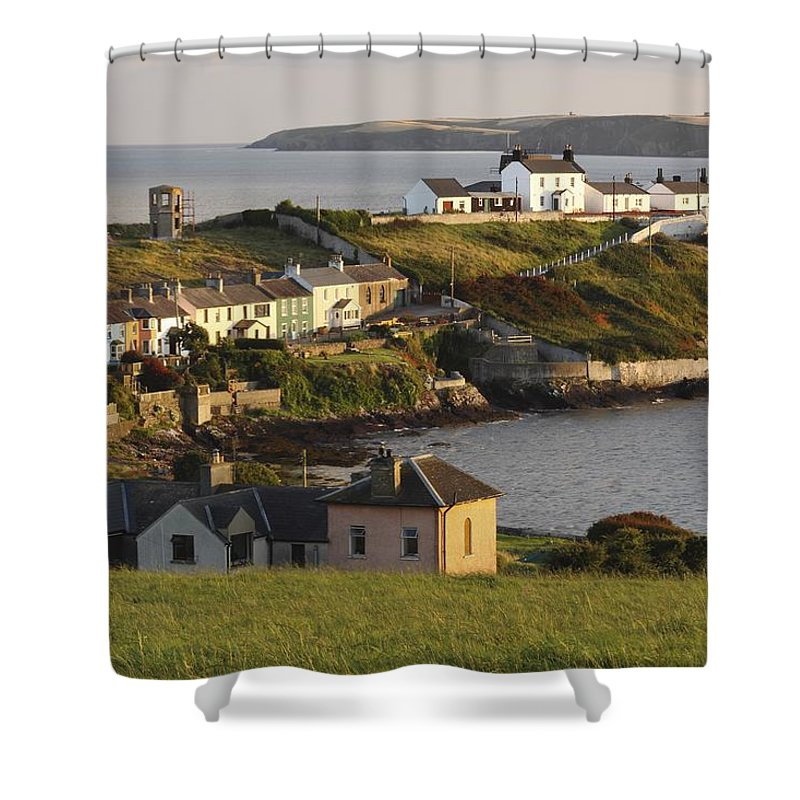 Munster Province Shower Curtain featuring the photograph Roches Point Lighthouse In Cork Harbour by Trish Punch