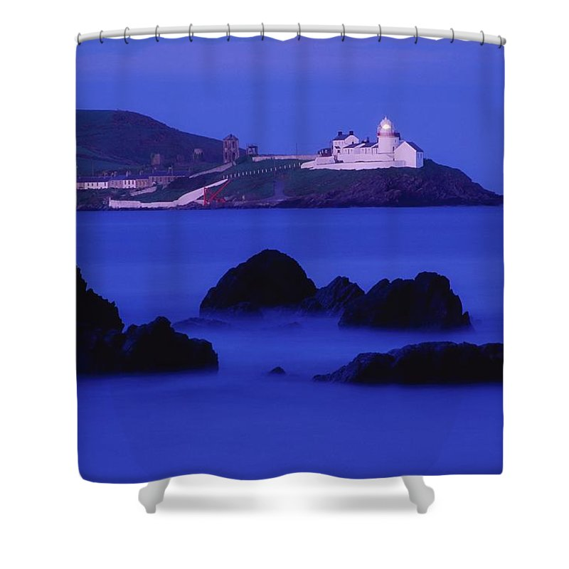 Architecture Shower Curtain featuring the photograph Roches Point, Whitegate, County Cork by Richard Cummins