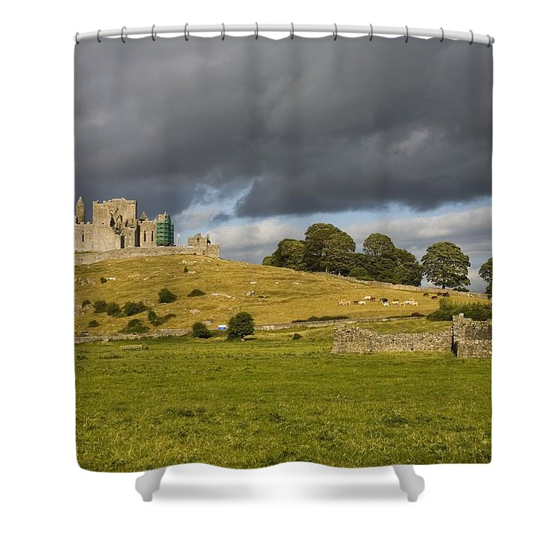 Architectural Shower Curtain featuring the photograph Rock Of Cashel, Cashel, County by Richard Cummins