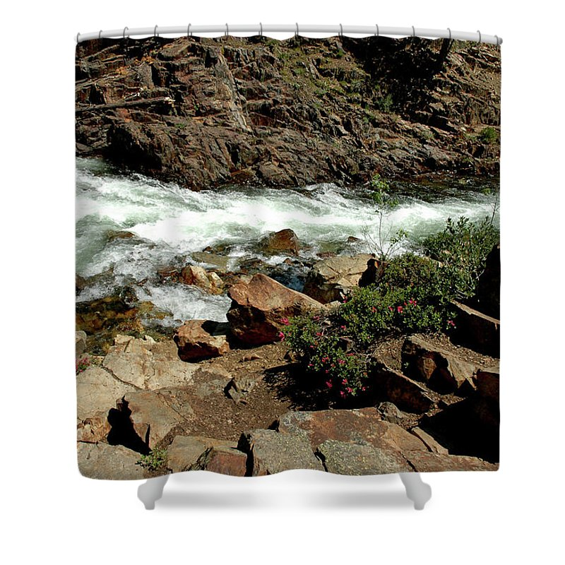Usa Shower Curtain featuring the photograph Rock Steps To Glen Alpine Creek by LeeAnn McLaneGoetz McLaneGoetzStudioLLCcom