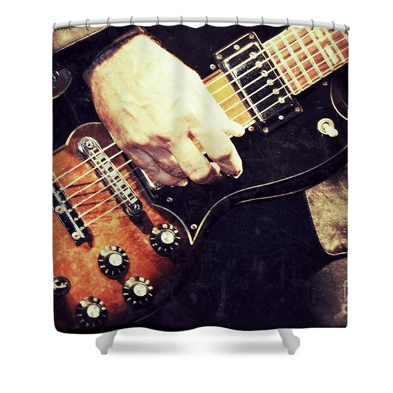 Rock And Roll Shower Curtain featuring the photograph Rockn by Traci Cottingham