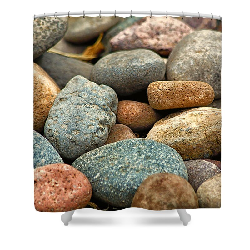 Rocks Shower Curtain featuring the photograph Rocks by Lauri Novak