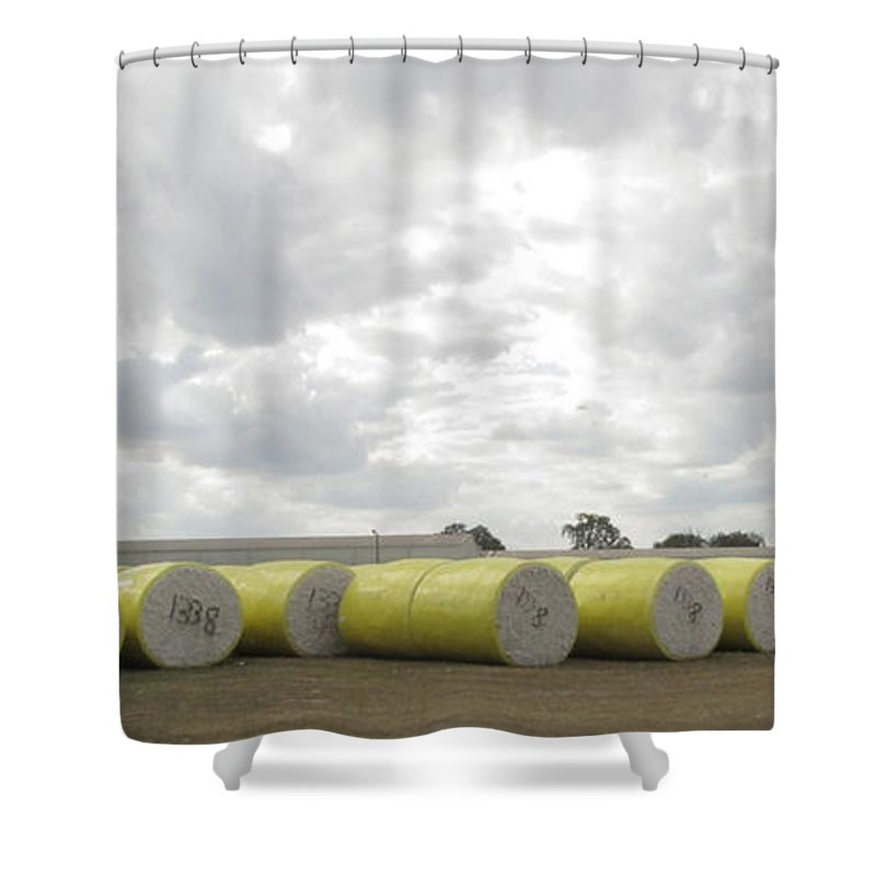 Cotton Shower Curtain featuring the photograph Rolls Of Cotton by Donna Brown