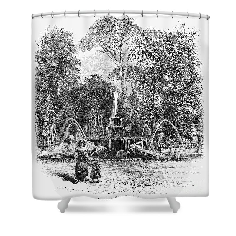19th Century Shower Curtain featuring the photograph Rome: Borghese Gardens by Granger