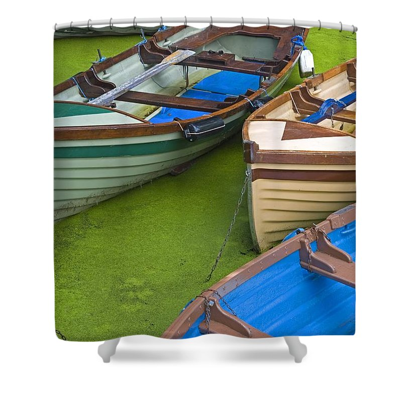 Boat Shower Curtain featuring the photograph Ross Castle, Killarney National Park by Richard Cummins