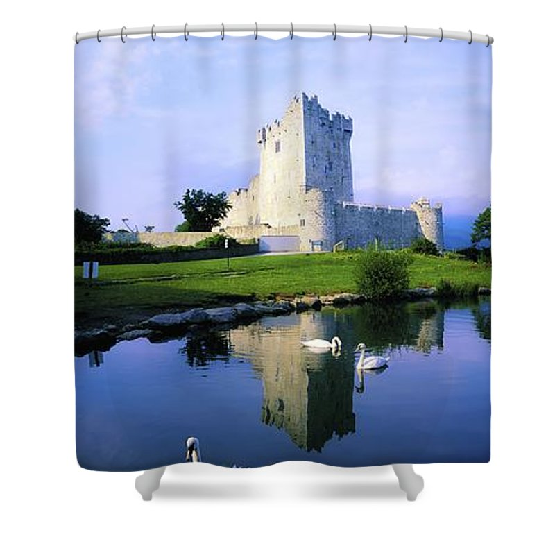 Architecture Shower Curtain featuring the photograph Ross Castle, Lough Leane, Killarney by The Irish Image Collection