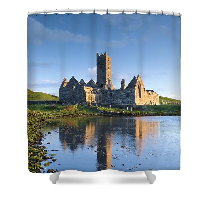 Day Shower Curtain featuring the photograph Rosserk Friary, Co Mayo, Ireland 15th by Gareth McCormack