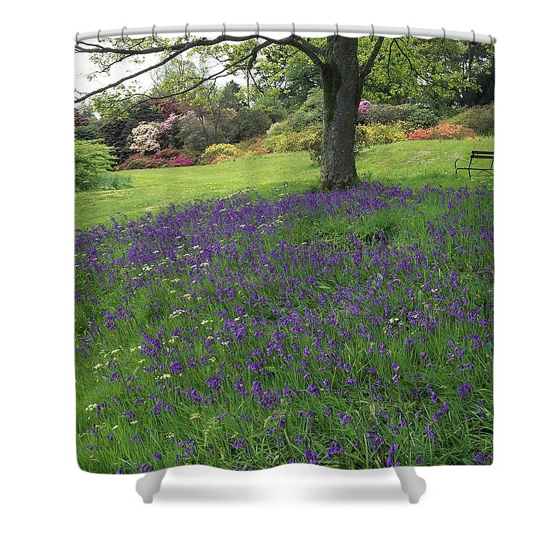 Outdoors Shower Curtain featuring the photograph Rowallane Garden, Co Down, Ireland Wild by The Irish Image Collection
