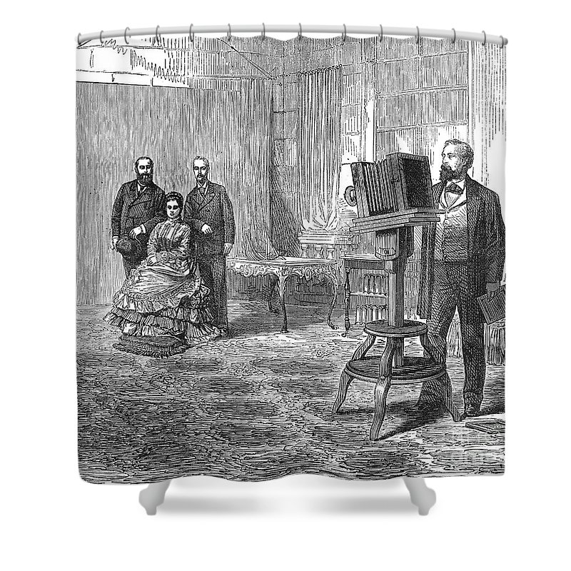 1860 Shower Curtain featuring the photograph Royal Portrait, C1860 by Granger