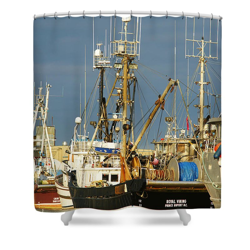 Boats Shower Curtain featuring the photograph Royal Viking by Randy Harris