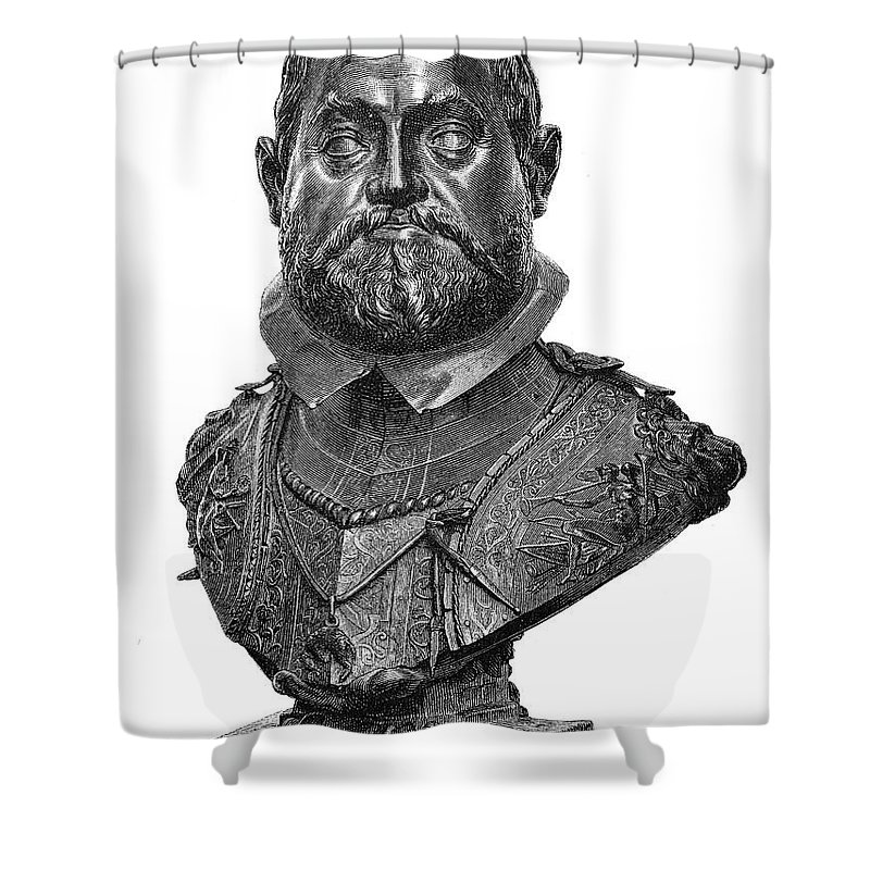 1607 Shower Curtain featuring the photograph Rudolf II (1552-1612) by Granger