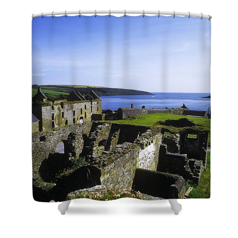 Architecture Shower Curtain featuring the photograph Ruins Of A Fort, Charles Fort, County by The Irish Image Collection