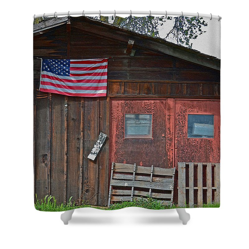 Rural Americana Shower Curtain featuring the photograph Rural Americana by Bill Owen