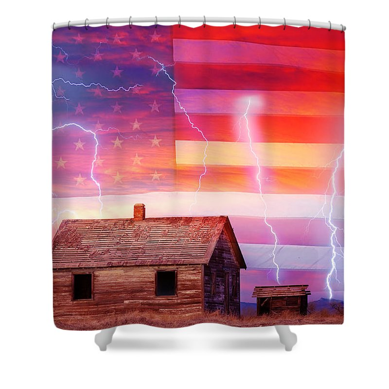 North Shower Curtain featuring the photograph Rural Rustic America Storm by James BO Insogna