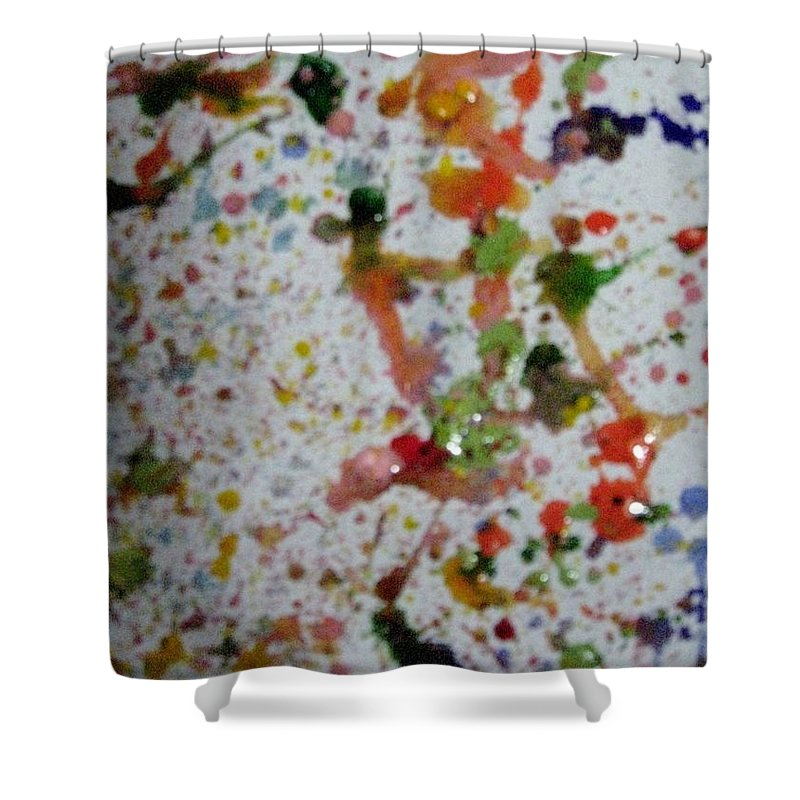 Colors....................red Shower Curtain featuring the painting Rush by Sonali Gangane
