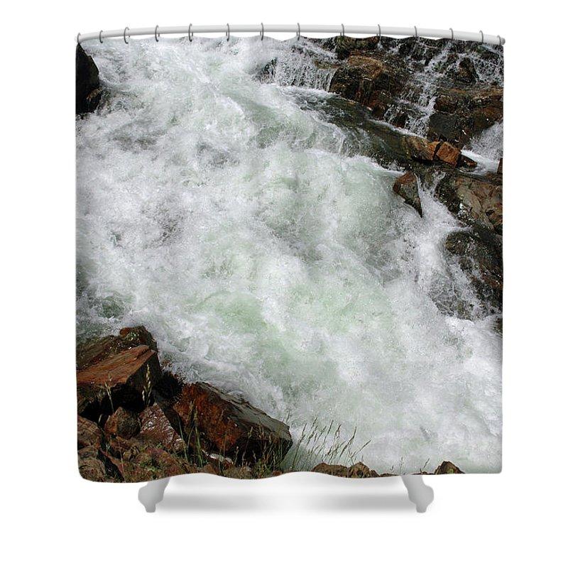 Usa Shower Curtain featuring the photograph Rushing Waters Glen Alpine Creek by LeeAnn McLaneGoetz McLaneGoetzStudioLLCcom