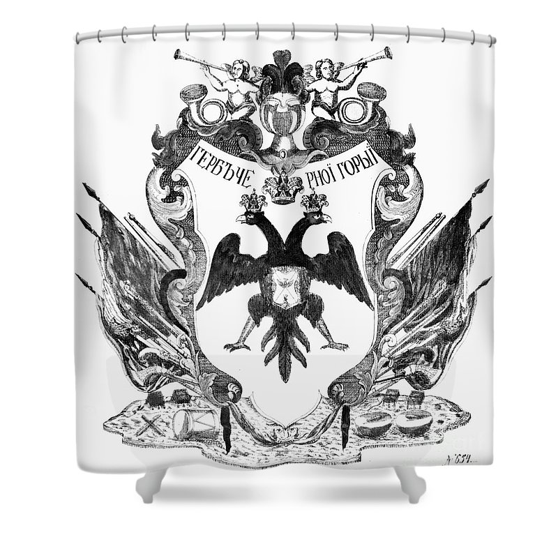 19th Century Shower Curtain featuring the photograph Russia: Coat Of Arms by Granger