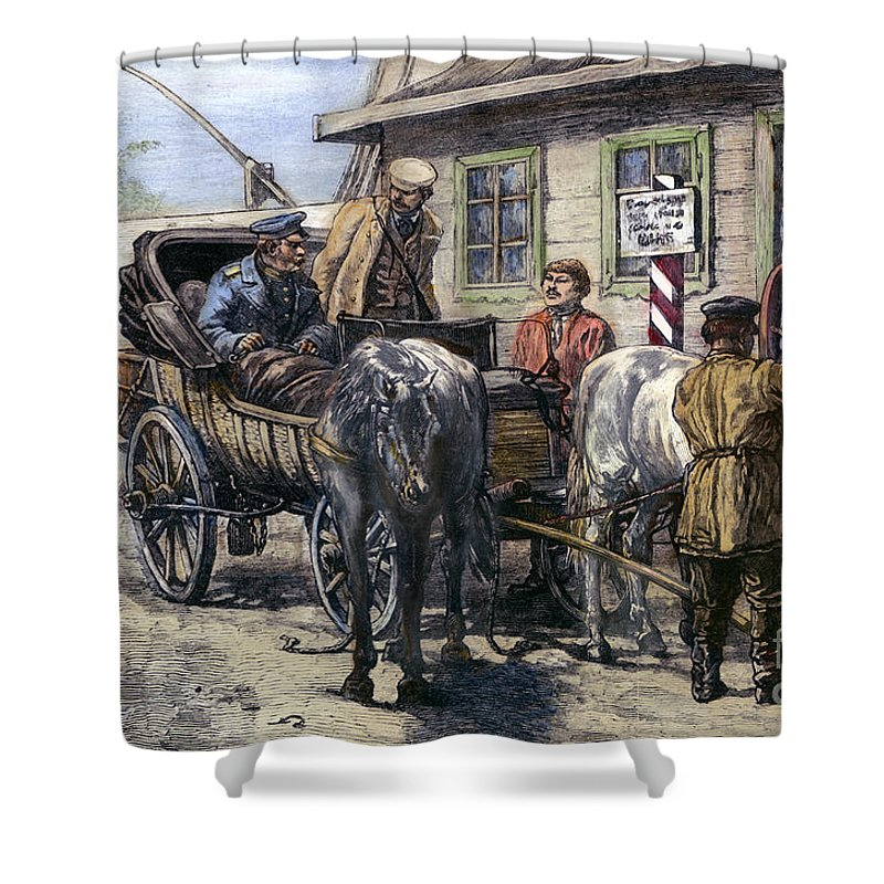 1882 Shower Curtain featuring the photograph Russia: Siberia, 1882 by Granger
