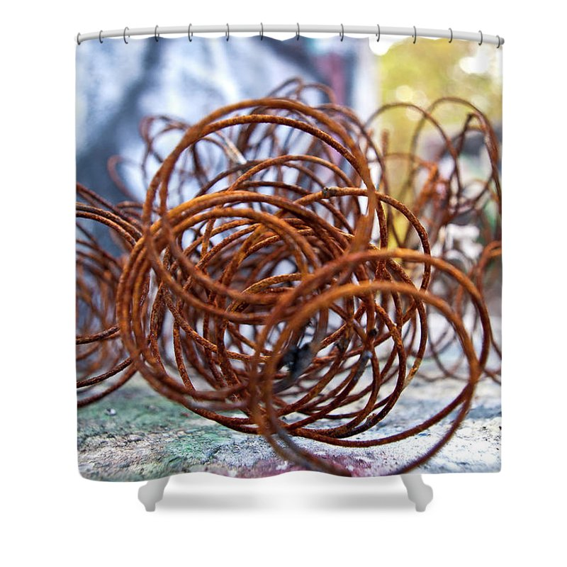 Rust Shower Curtain featuring the photograph Rusted Spring 1 by Maglioli Studios
