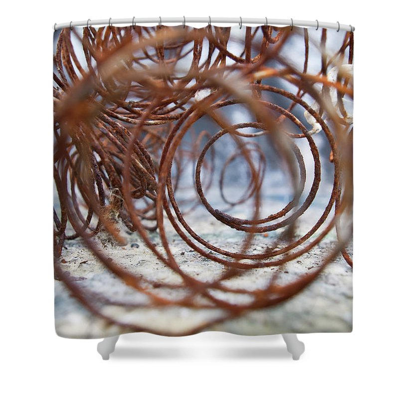 Spring Shower Curtain featuring the photograph Rusted Spring 2 by Maglioli Studios