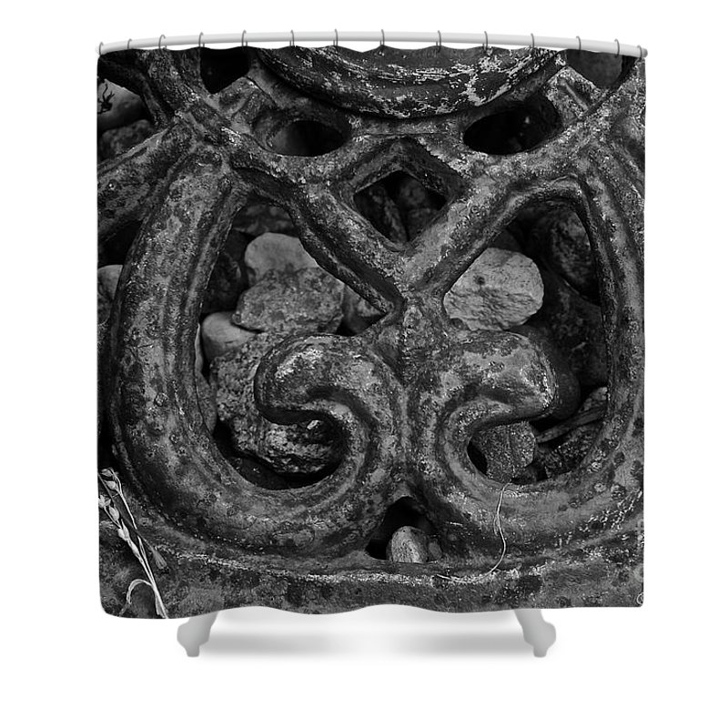 Rustic Wrought Iron Shower Curtain featuring the photograph Rustic Iron by Susan Herber