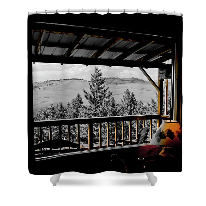 Americas Shower Curtain featuring the photograph Rustic View Of The Great Outdoors by Roderick Bley