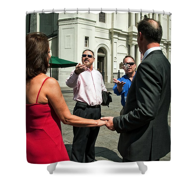 New Orleans Shower Curtain featuring the photograph S And D 050 by Kathleen K Parker