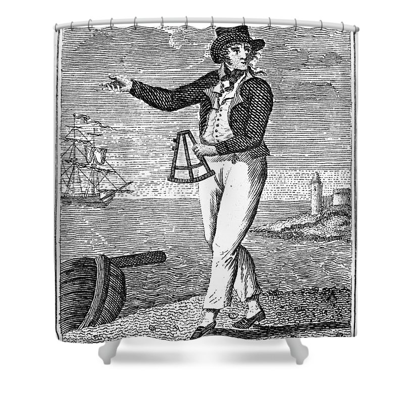 18th Century Shower Curtain featuring the photograph Sailor, 18th Century by Granger