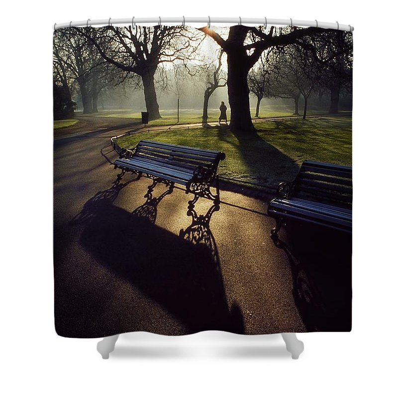 Beauty In Nature Shower Curtain featuring the photograph Saint Stephens Green, Dublin, Co by The Irish Image Collection
