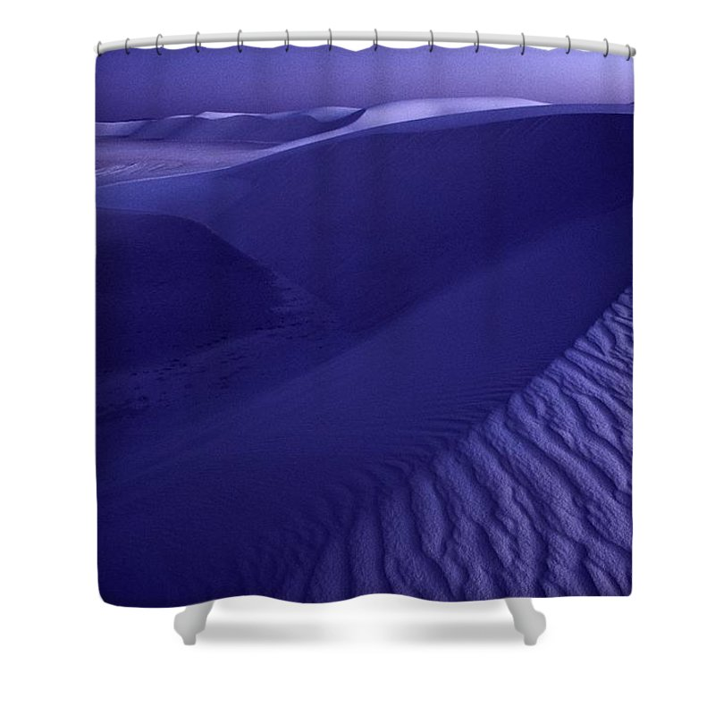 sand Shower Curtain featuring the photograph Sand Dunes. These Dunes Form When Solid by Michael Nichols