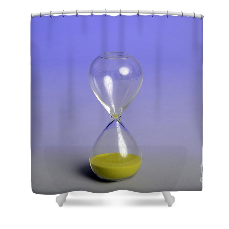 Chronometry Shower Curtain featuring the photograph Sand Timer by Photo Researchers, Inc.