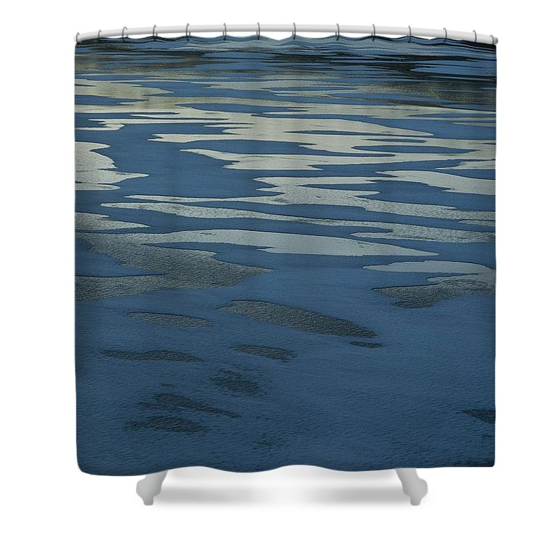 Sand Shower Curtain featuring the photograph Sandbars Make A Pattern In A Body by Mattias Klum