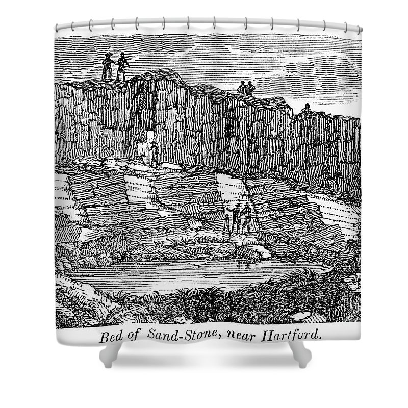 1840 Shower Curtain featuring the photograph Sandstone Quarry, 1840 by Granger