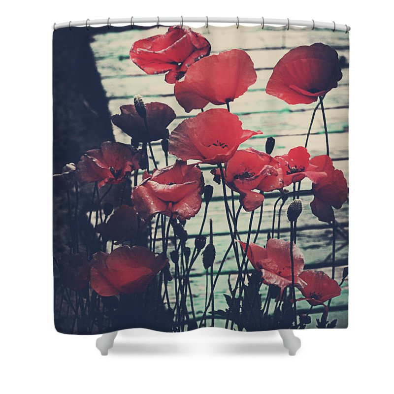 Rural Decay Shower Curtain featuring the photograph Sandy Beach by The Artist Project