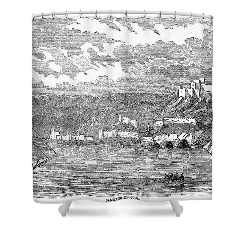 1853 Shower Curtain featuring the photograph Santiago De Cuba, 1853 by Granger