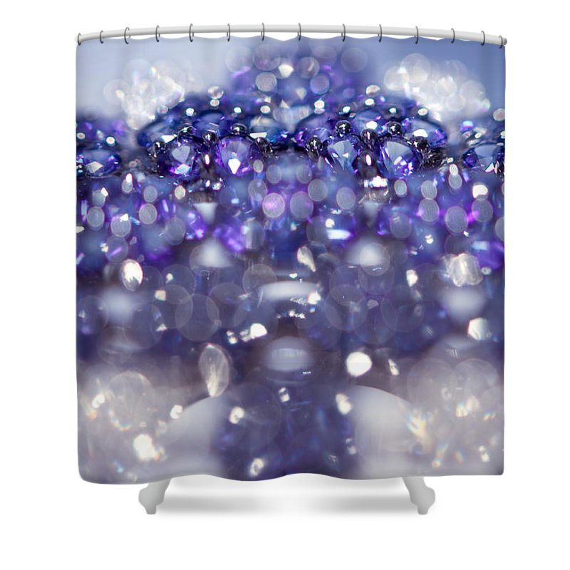 Jewel Shower Curtain featuring the photograph Sapphire Brooch. Spirit Of Treasure by Jenny Rainbow