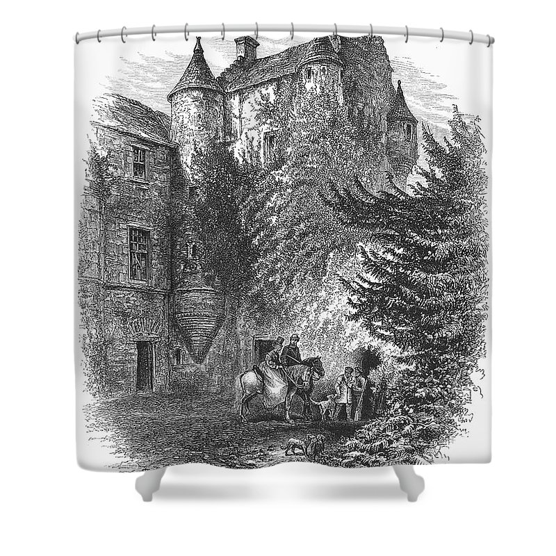 1875 Shower Curtain featuring the photograph Scotland: Castle by Granger