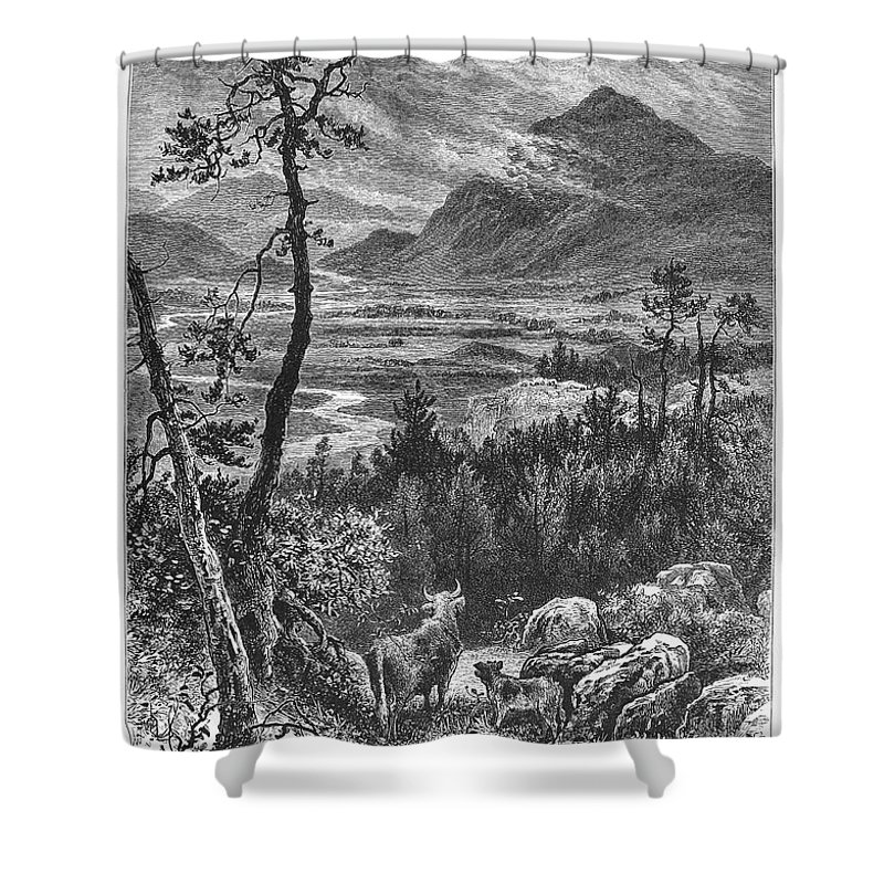 1875 Shower Curtain featuring the photograph Scotland: Spey Valley by Granger