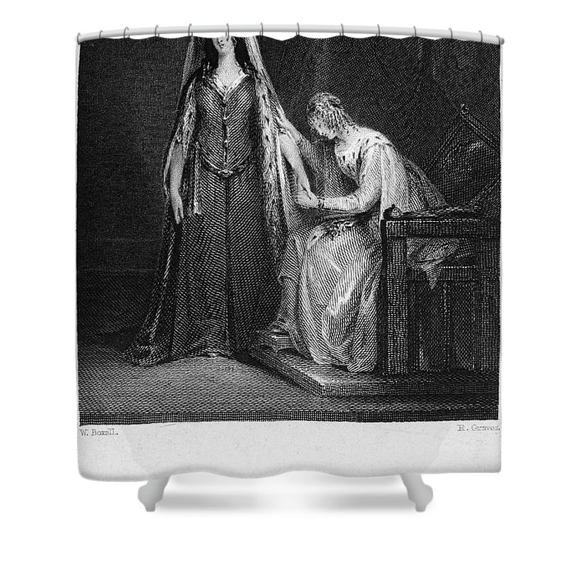 1832 Shower Curtain featuring the photograph Scott: Ivanhoe, 1832 by Granger