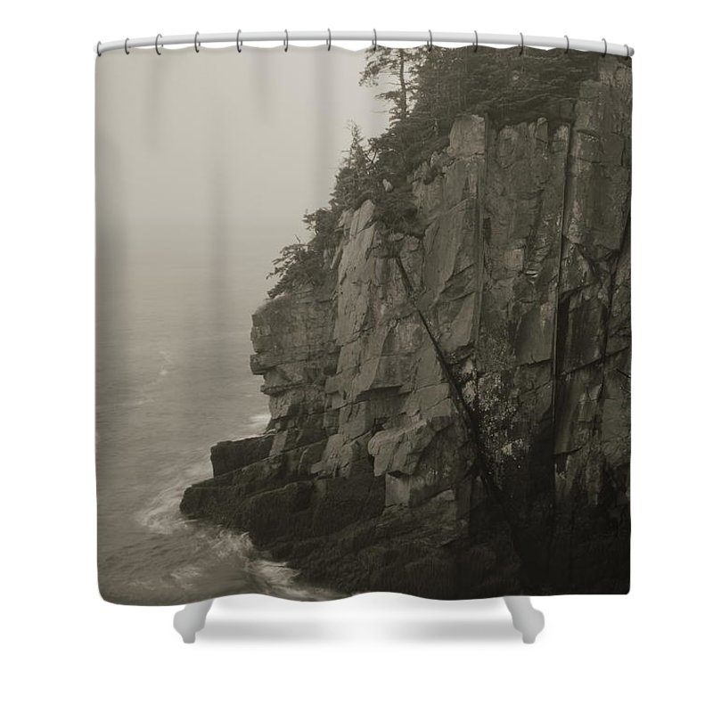 Cliff Shower Curtain featuring the photograph Sea Cliff At Quoddy Head by Roupen Baker