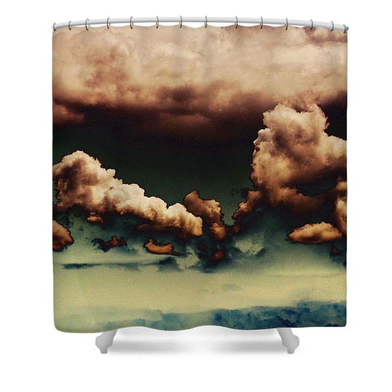 Clouds Shower Curtain featuring the photograph Sea Of Green by One Rude Dawg Orcutt