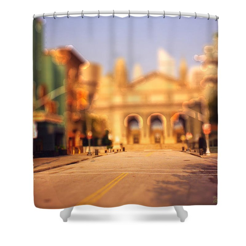 Photo Shower Curtain featuring the photograph Seaport Tiltshift by Ericamaxine Price