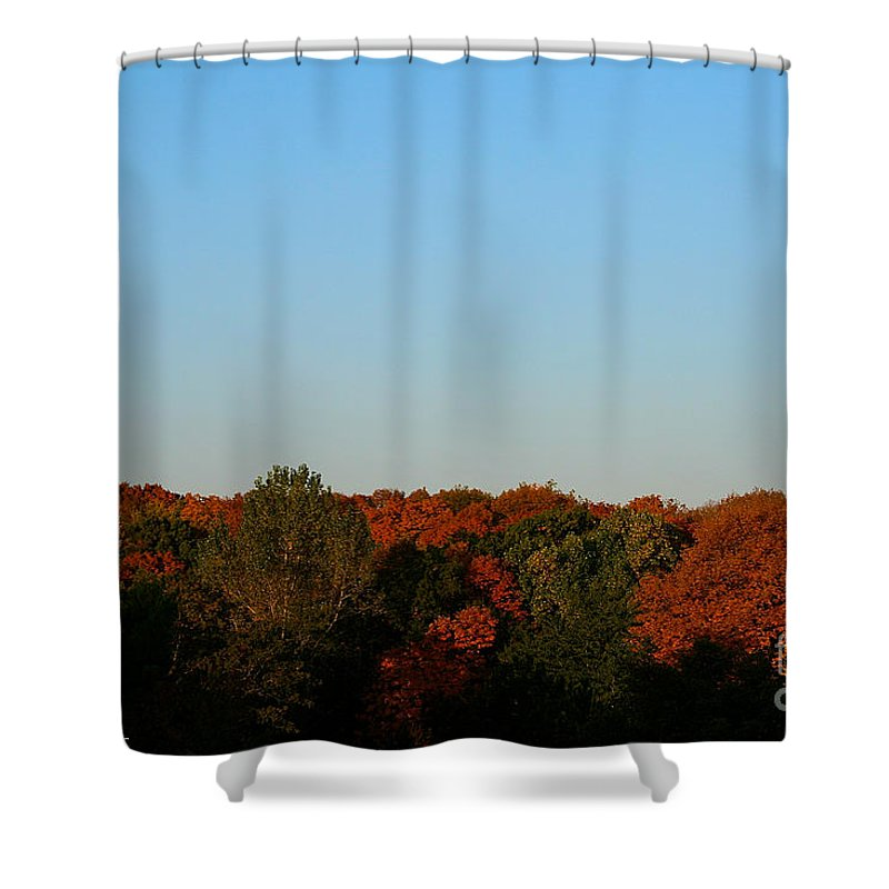 Outdoors Shower Curtain featuring the photograph September Morning by Susan Herber